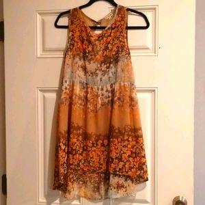 Lily White Medium Floral See Thru Mini Dress